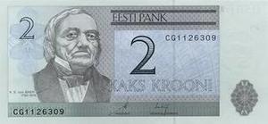 Курс эстонской кроны к доллару