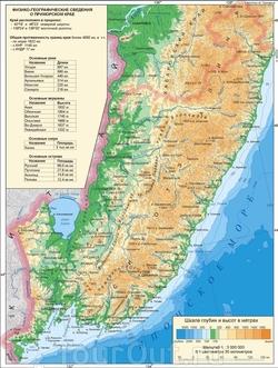 Топографическая карта Приморского края