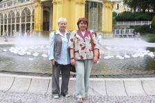2007 год Поющий фонтан. Мы с Любой из Израиля