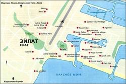 Карта Эйлата с отелями