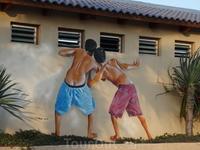 Находка художника на домике Неизвестного архитектора в Тель-Авиве.