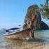 самое первое и любимое фото лодочки с Рейли, сделанное на телефон