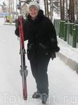 Первый раз на лыжах!