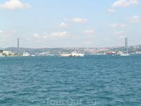 Босфорский мост — первый висячий мост через Босфорский пролив. Он соединяет европейскую и азиатскую части Стамбула.