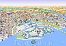 Карта Петроградки в Петербурге