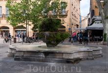 бульвар Мирабо,фонтан с минеральной тёплой водой