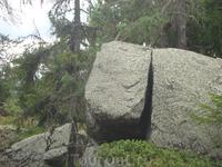 Разрезы на камнях.
