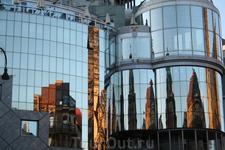 Отражение собора Св.Штефана