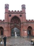 Бывшие Росгартенские ворота Кёнигсберга рядом с музеем янтаря. Центральная часть.