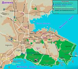 Карта Даляня на русском