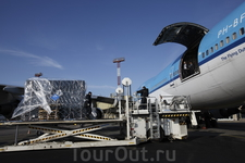 Момент погрузки картины в аэропорту Пулково II