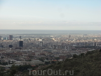 Вид Барселоны с горы Тибидабо (Tibidabo) 6