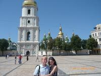 Дети у колокольни Святой Софии