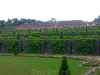 """Сан-Суси (""""беззаботный дворец""""), построенный Фридрихом Вторым по подобию Версаля. Вид из парка"""