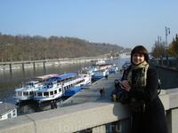 река Влтава.катались на теплоходике в день рождения