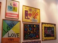 Знаменитые коллажи о любви известного кутюрье Ив-Сена Лорана.