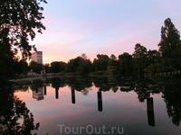 На самом деле это было очень необычно, гулять по Гайд парку вечером при такой чудесной погоде это было как вернуться куда-то в детство, где есть озеро ...