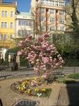 в центре города есть такой небольшой сад, там очень мило))))))