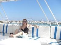 """я на яхте """"Sea Romance"""", в порту"""