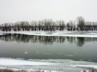 А вот и Днестр, почти замерзший.