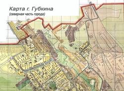 Карта северной части Губкина