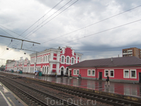 железнодорожный вокзал Вологды. Вид с платформы