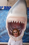 В день своего рождения жена имеет право показать зубки. Эйлат океанариум.