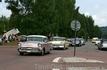 Парад ретро машин в Швеции в городке Раттвик.