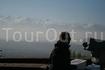 вид на горы с обзорной площадки Кок-Тюбе
