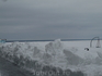 Зимнее море на побережье в Пярну
