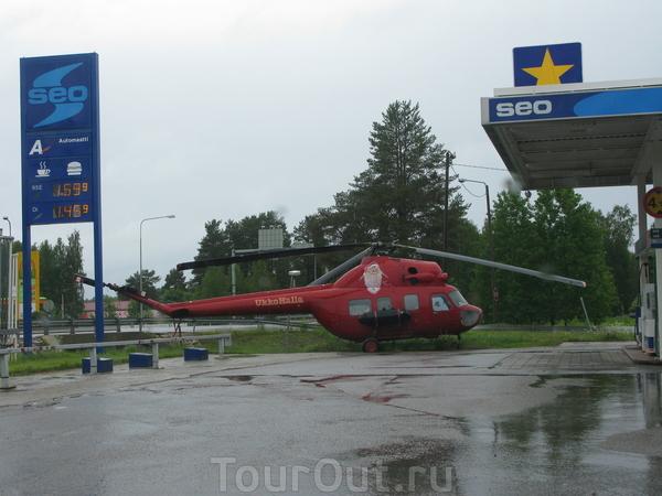Вертолет на заправке (Финляндия)
