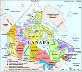 Карта Канады:)