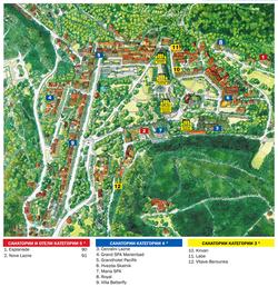Карта Марианских Лазней с отелями