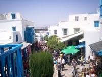 Сиди Бу Саид. Вид с крыльца знаменитого Blue Cafe