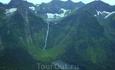 Самый высокий водопад в России-Кинзелюкский. Высота 330 метров. Точка сброса воды  1628 метров над уровнем моря.  Вода падает из верхнего кинзелюкского ...