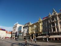 Площадь бана Елачича. Центральная площадь Загреба