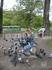 Подружилсь с голубями. Киев, май 2008 (там на горе стоит старый-престарый дед и дрессирует голубей, а  туристы могут с ними фоткаться. Ему только надо ...