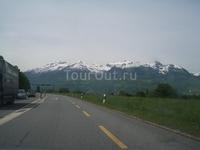 Впереди - Баварские Альпы.