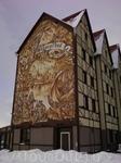 фрески ,дом фахвертовый-типичная Германия.