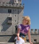 На фоне Белемской башни