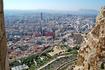 Панорама Аликанте с высоты бастионов крепости. Сюда прилетают самолётами те. кто хочет отдохнуть в Бенидорме.