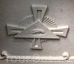 Символ на потолке часовни.