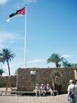Акабская крепость и флаг