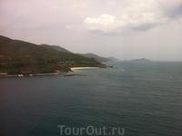 Вид с канатной дороги на остров Vinperl