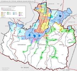 Карта районов Карачаево-Черкесии