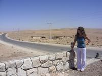 по дороге в Петру через пустыню