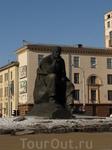 Памятник Якубу Колосу. Площадь Якуба Колоса.