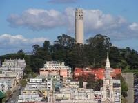 Койт-тауэр - мемориал на вершине Telegraph Hill