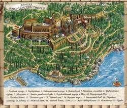 Карта Воронцовского дворца
