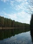 По дороге к музею леса встретили озеро.